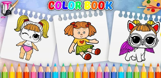 Doll Coloring Book-Surprise Girl LoI APK