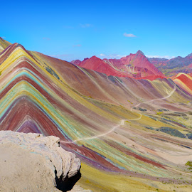 Rainbow Mountain by Craig Bill - Landscapes Mountains & Hills ( rainbow mountain, peru )