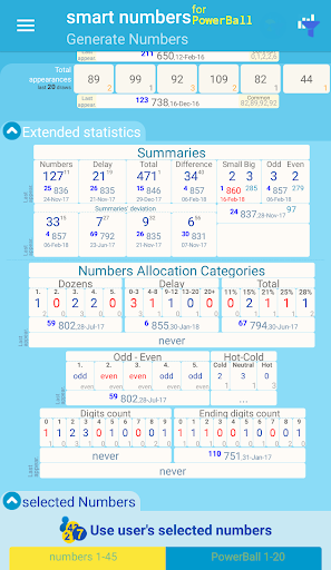 smart numbers for PowerBall(South African) screenshots 3