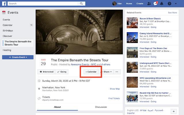 facebook2calendar