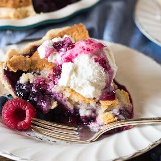 Mixed Berry Cobbler Pie.
