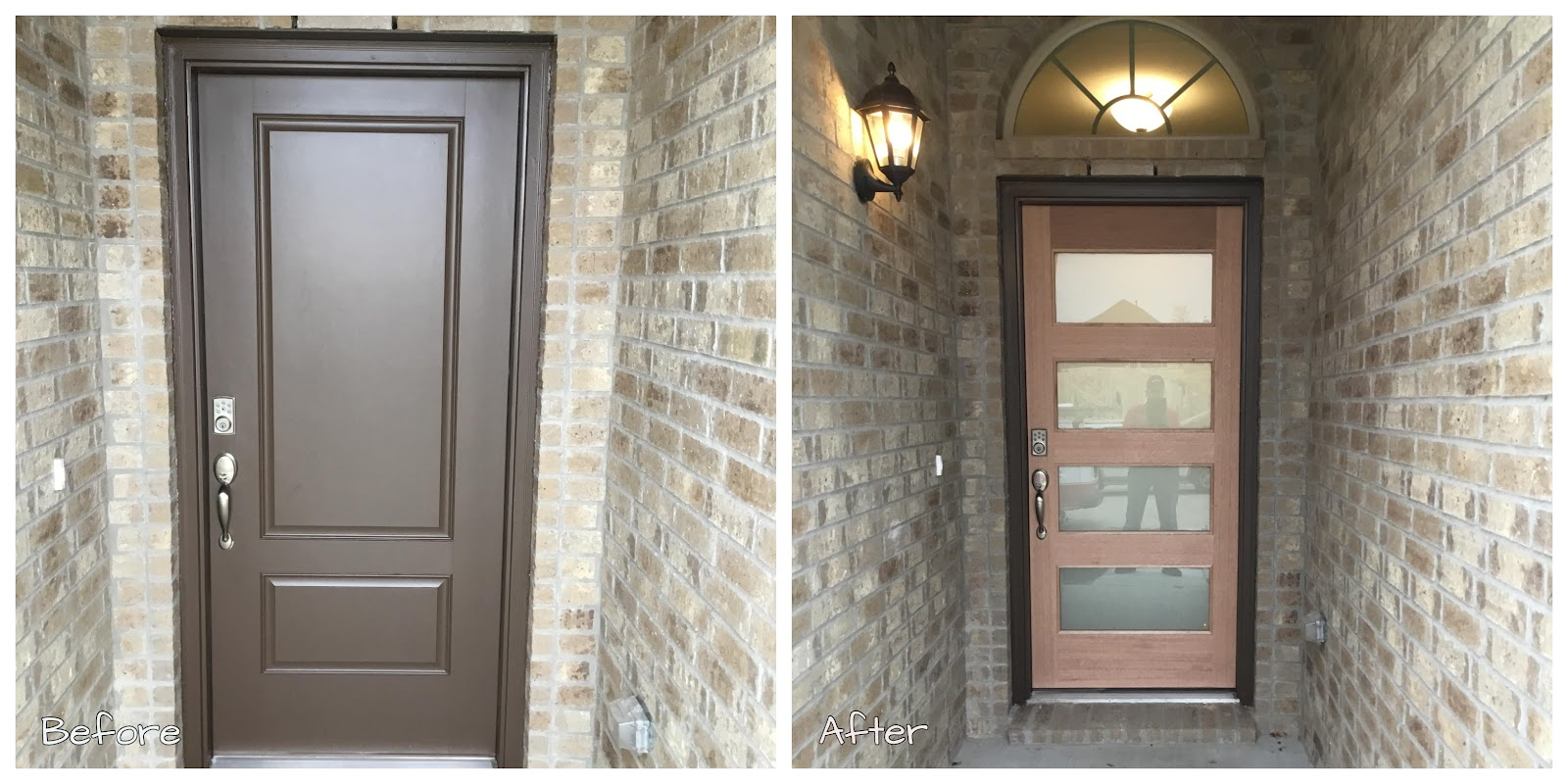 Handyman Little Elm front door installation.