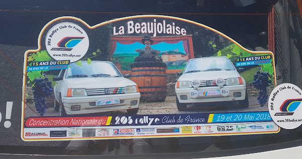 Concentration Nationale du 205 Rallye Club de France 2018