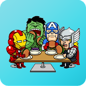 Superhero Stickers for WhatsApp - WAStickerApps