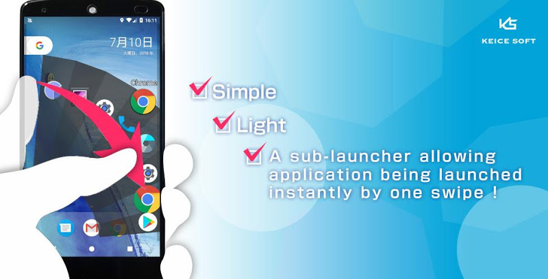 Quick Arc Launcher ( Smart One Swipe Launcher ) Screenshot 0