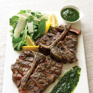 Steak Florentine with Arugula Salad