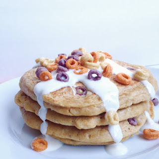 Flourless Milk & Cereal Pancakes.