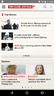 The Globe and Mail: News- screenshot thumbnail