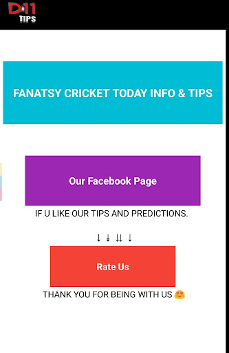 Fantasy 11 cricket Tips - Dream11 Team Predictions 6.6 screenshots 2