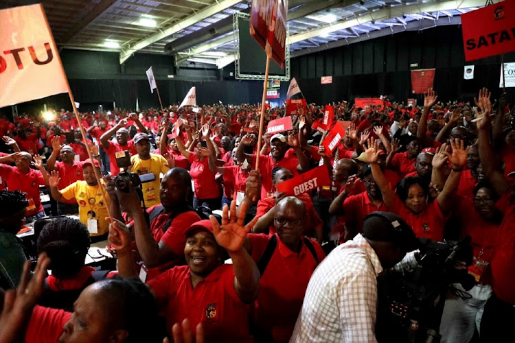 Congress of South African Trade Unions (Cosatu) delegates gather during the Cosatu's 13th national congress on September 17 2018 in Midrand, South Africa. File photo: SOWETAN/THULANI MBELE