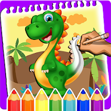 Little Dino Coloring Book Drawing For Kids App