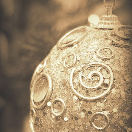 universe by Rux Georgescu - Artistic Objects Other Objects ( artistic objects, sepia, globe, christmas tree, christmas )