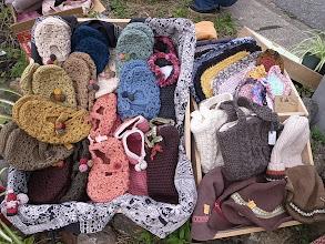 Photo: 農処Kishi さんの手編みグッズ