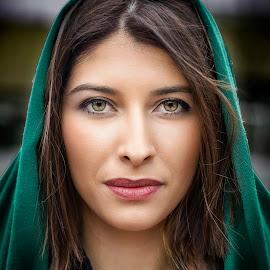 Green by Samir Zahirovic - People Portraits of Women ( #portrait, #beauty, #woman, #model, #face, #girl, #beautiful, #eye, best female portraiture )