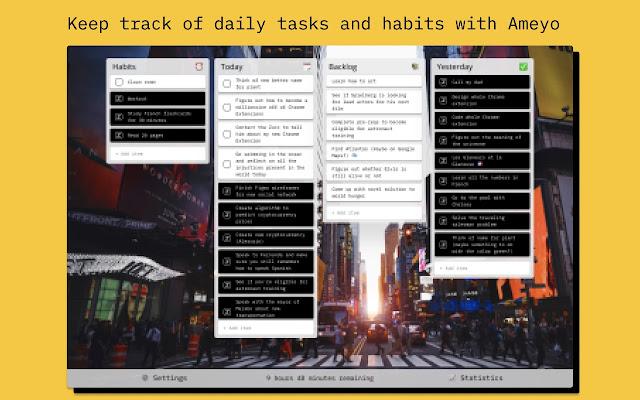 Ameyo | Task + Habit Tracker