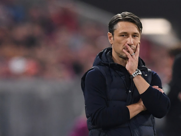 Bayern Munich coach Niko Kovac looks on during a 3-0 home Bundesliga defeat to Borussia Moenchengladbach at the Allianz Arena in Munich, Germany, on October 6, 2018.