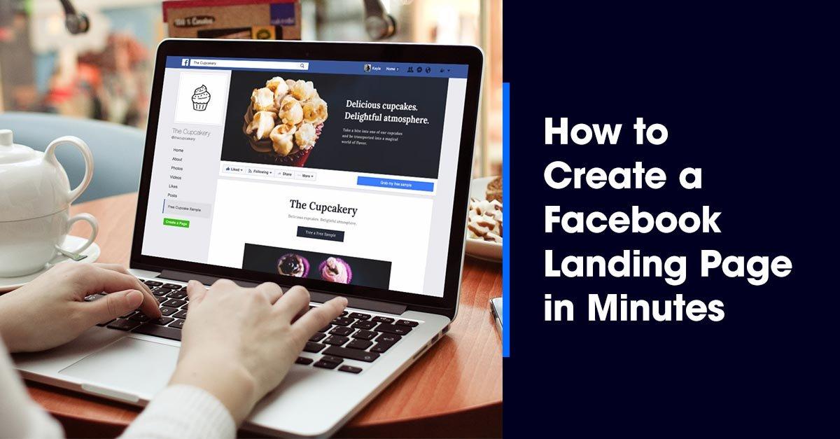 facebook landing page