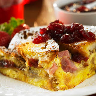Cranberried Monte Cristo Strata (Ocean Spray).