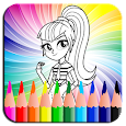 Coloring Book Equestrian Girl icon