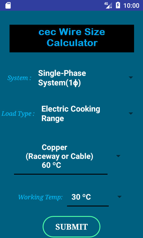 Cec wire size calculator free android apps on google play cec wire size calculator free screenshot greentooth Gallery