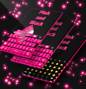 Pink and Black Free Keyboard - náhled