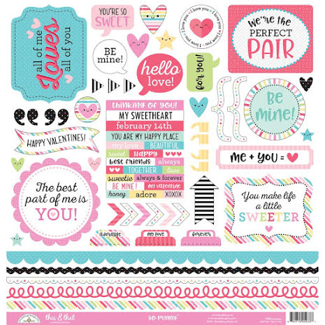 Doodlebug So Punny Cardstock Stickers 12X12 - This & That