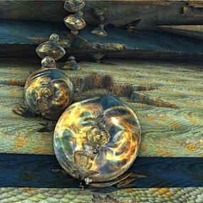 Illusion balls by Linda Czerwinski-Scott - Illustration Abstract & Patterns ( abstract, 3d, illustration, fractal, design )