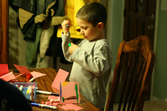 Photo: Reed making Valentines