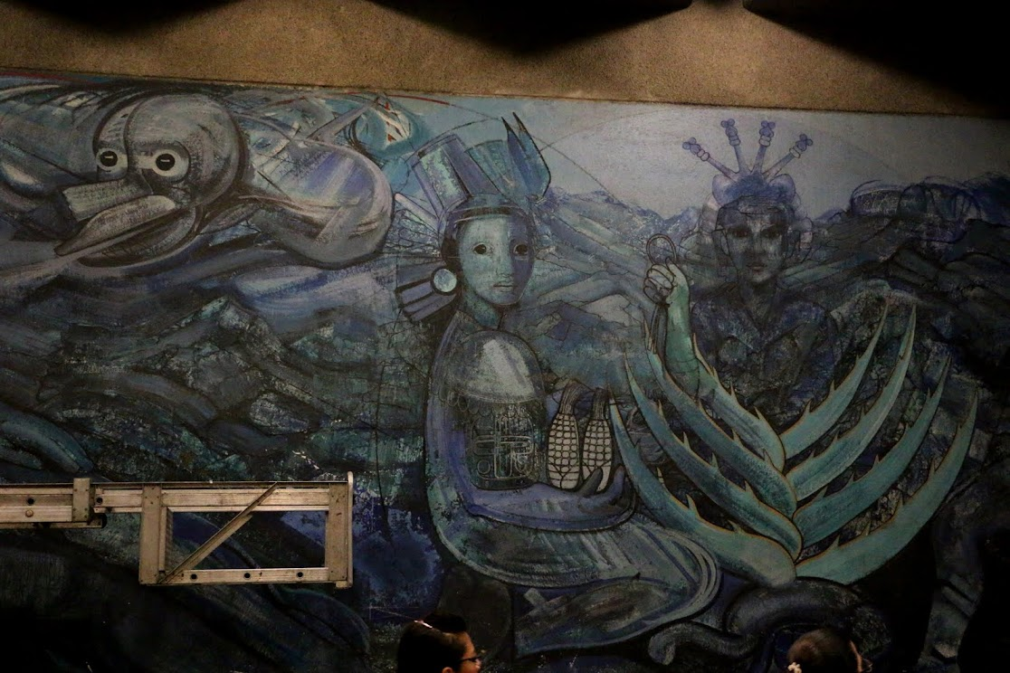 mexico city ambles mexican muralists in the metro portraying