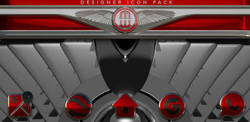 Red Gear HD Icon Pack app for Android screenshot