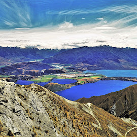 by Phil Bear - Landscapes Mountains & Hills ( wanaka, roy's peak, mountains, lake, lake wanaka, new zealand )
