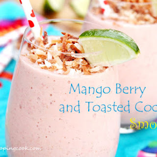 Mango Berry and Toasted Coconut Smoothie