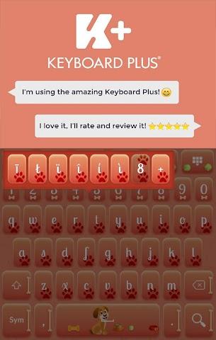 android Sweet Puppy Keyboard Screenshot 3