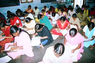 Photo: Seen in the picture is a section our women trainees writing their examination