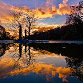 Paradise Mirror by Fabrizio Reali - Landscapes Sunsets & Sunrises ( clouds, canon, water, mirror, reflection, sky, nature, colors, sunset, photo,  )