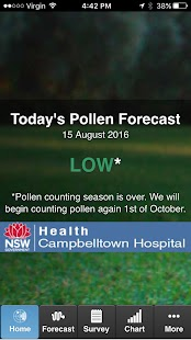Sydney Pollen Count & Forecast- screenshot thumbnail