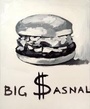 "Photo: Whielki Krasnal ""Big $asnal"". 2008. Oil on canvas. 46 x 38 cm"