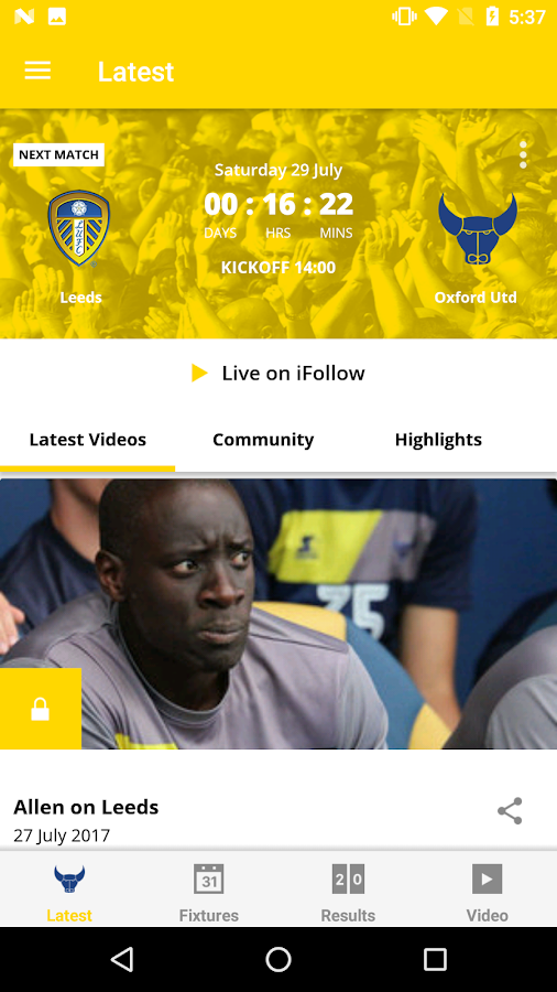 Oxford United Official App- screenshot