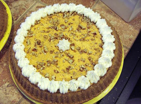This Is A Delightful Alternative To Traditional Pumpkin Pie. All The Rich Fall Flavors Of Pumpkin, Nutmeg, Spice Cake ... Wrapped Up In One Beautiful Cake! Makes Plenty For Lots Of Guests, Too!