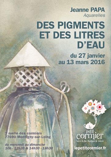 affiche de l'expo chez Le Petit Cormier