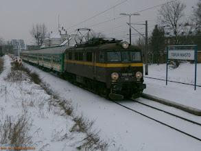 """Photo: EU07-133, IR """"Mamry"""" Międzylesie - Olsztyn Główny {Toruń Miasto, 2013-01-16}"""