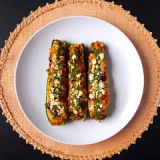 Grilled Mediterranean Zucchini Boats.