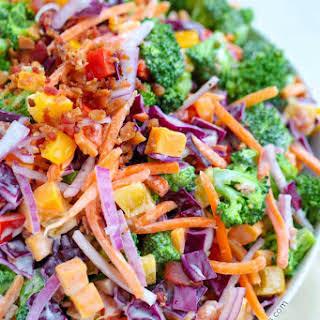 Rainbow Broccoli Salad.