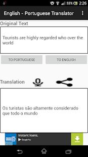 English Portuguese Translator - náhled