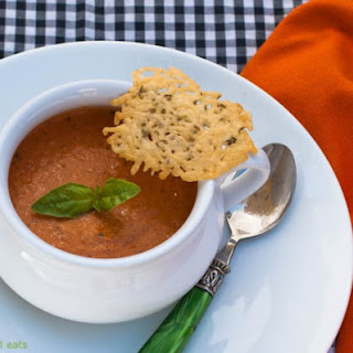 Tomato Basil Soup With Goat Cheese