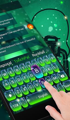 玩免費生活APP|下載Green Fireflies Keyboard Theme app不用錢|硬是要APP