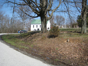 Photo: The Webb Cemetery Chapel was originally a school house located elsewhere.