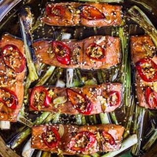 Broiled Salmon with Honey Sesame Glaze