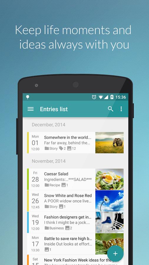 Diaro - Diary, Journal, Notes, Mood Tracker Screenshot