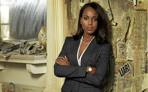 STATUS REPORT Kerry Washington plays Olivia Pope in television series 'Scandal', which was created by Shonda Rhimes. Pope is a Washington crisis manager who advises her high-powered clients on how to manage their public image Picture: Disney